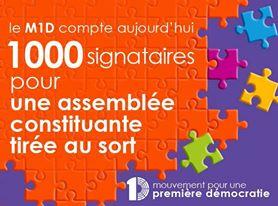 1000 signataires